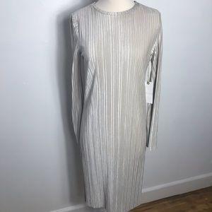 Leith cream velvet dress